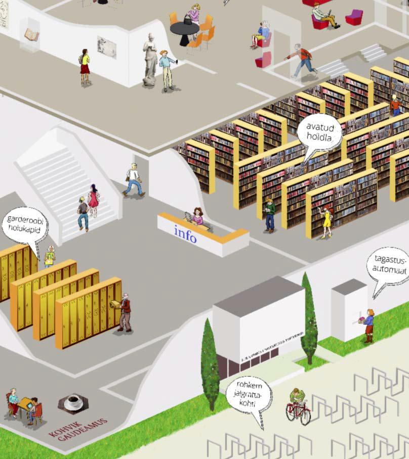 Tartu Ülikooli uuendatud raamatukogu plaan. 2016. a äramärgitud töö tarbepildi kategoorias