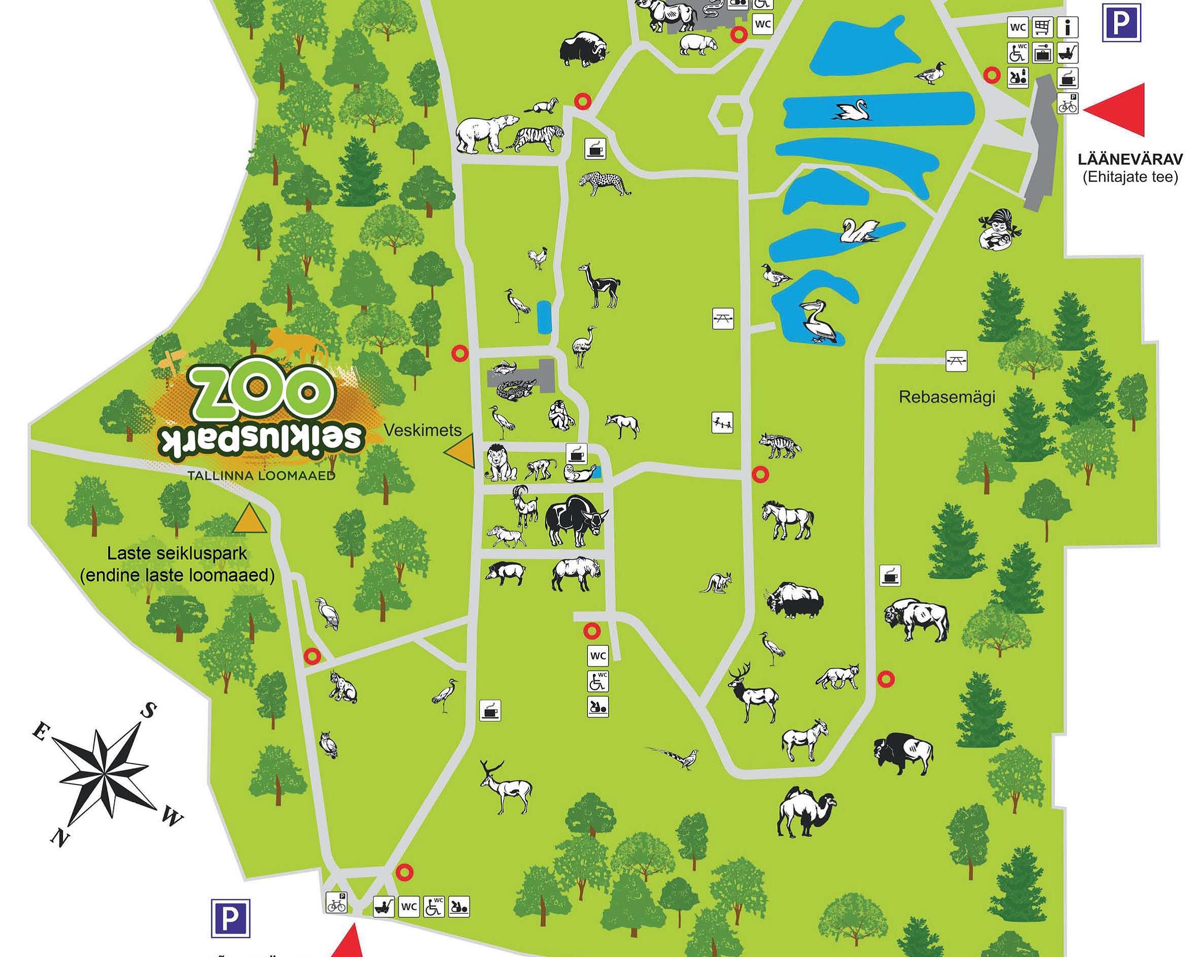Tallinna Loomaaia plaan. 2016. a äramärgitud töö tarbepildi kategoorias